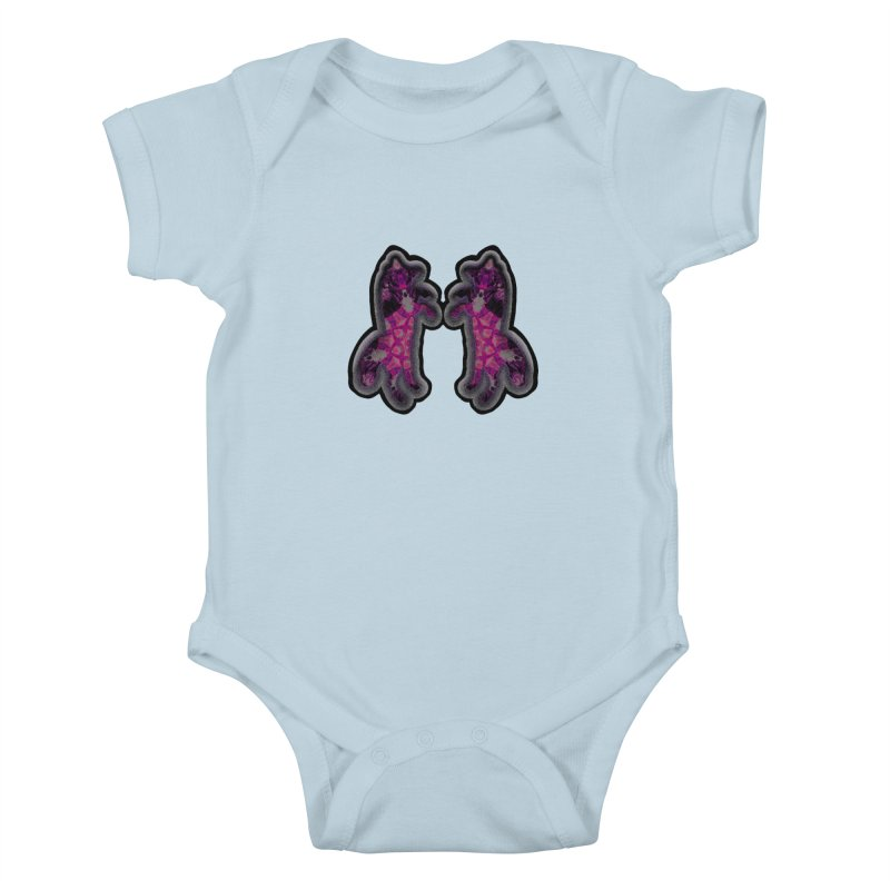 dancing fractal foxes Kids Baby Bodysuit by KristieRose Designs