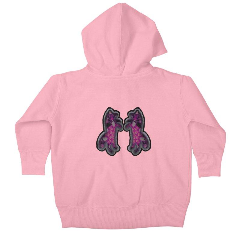 dancing fractal foxes Kids Baby Zip-Up Hoody by KristieRose Designs