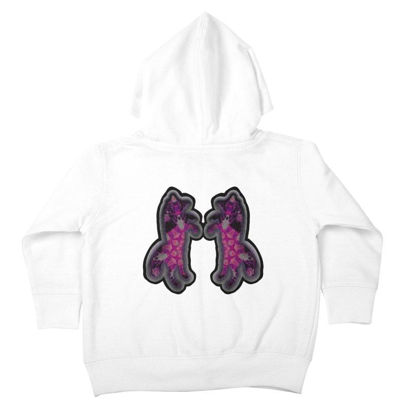 dancing fractal foxes Kids Toddler Zip-Up Hoody by KristieRose Designs