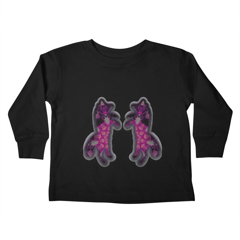 dancing fractal foxes Kids Toddler Longsleeve T-Shirt by KristieRose Designs