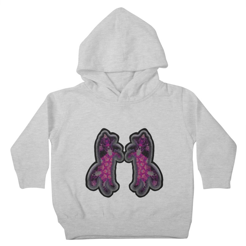 dancing fractal foxes Kids Toddler Pullover Hoody by KristieRose Designs
