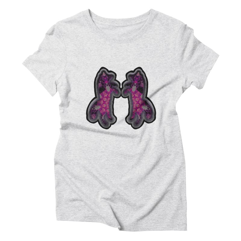 dancing fractal foxes Women's T-Shirt by KristieRose Designs
