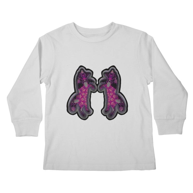 dancing fractal foxes Kids Longsleeve T-Shirt by KristieRose Designs