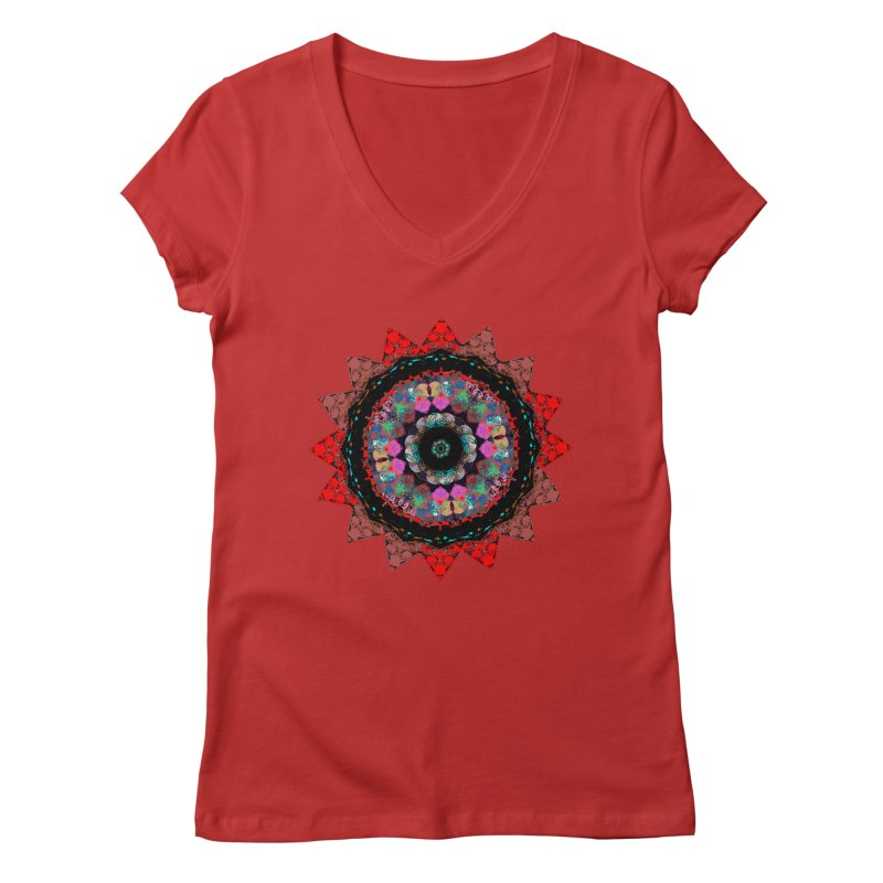 heart queen Women's Regular V-Neck by KristieRose Designs
