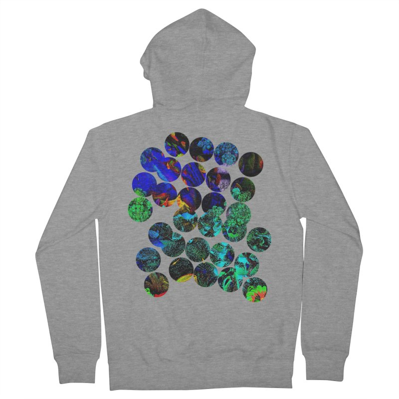 circle chaos Men's Zip-Up Hoody by KristieRose Designs