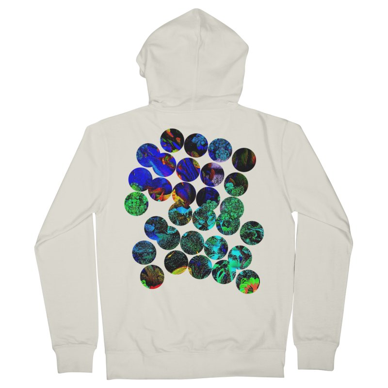 circle chaos Men's French Terry Zip-Up Hoody by KristieRose Designs