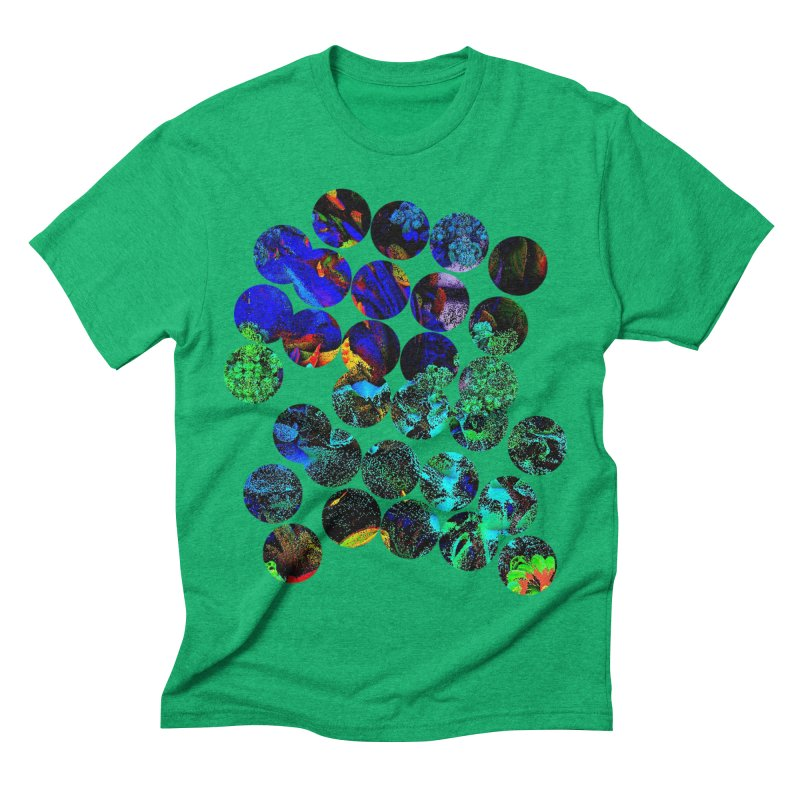 circle chaos in Men's Triblend T-shirt Tri-Kelly by KristieRose Designs