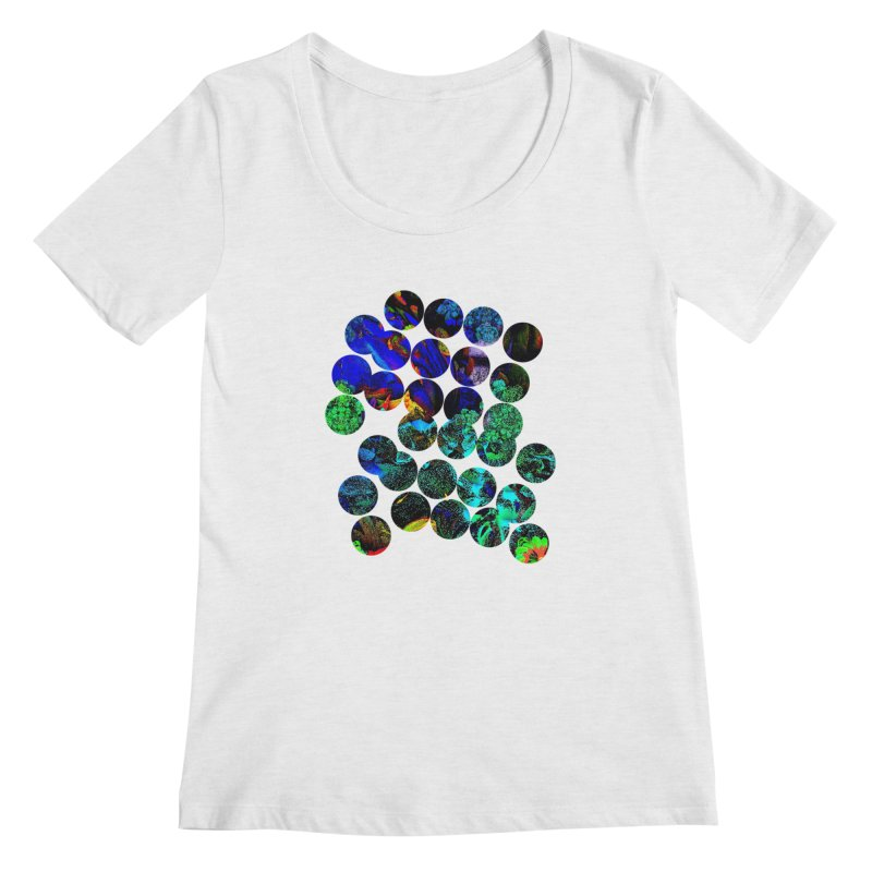 circle chaos Women's Regular Scoop Neck by KristieRose Designs