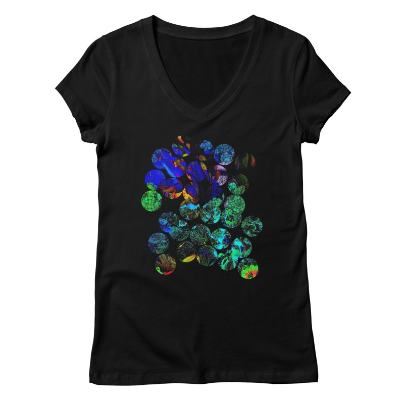 circle chaos Women's V-Neck by KristieRose Designs