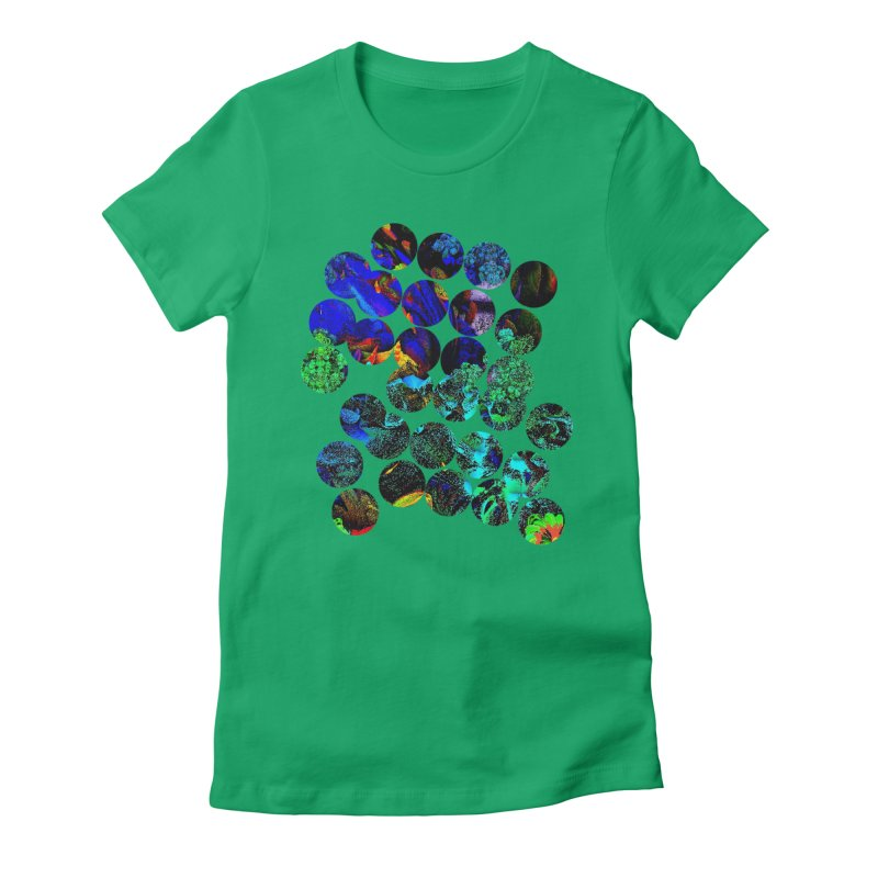 circle chaos Women's Fitted T-Shirt by KristieRose Designs