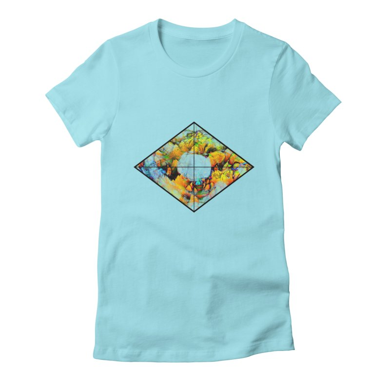 diamond Women's Fitted T-Shirt by KristieRose Designs