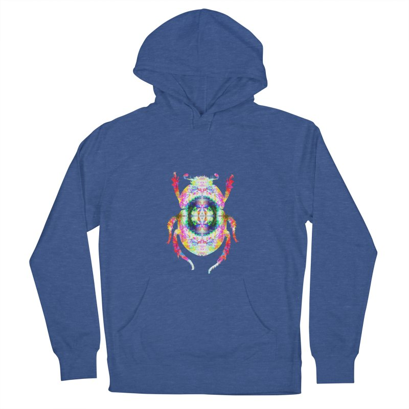 fractal beatle Men's French Terry Pullover Hoody by KristieRose Designs