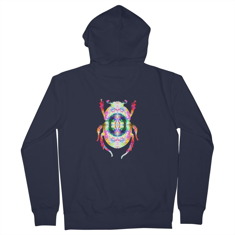 fractal beatle Men's French Terry Zip-Up Hoody by KristieRose Designs