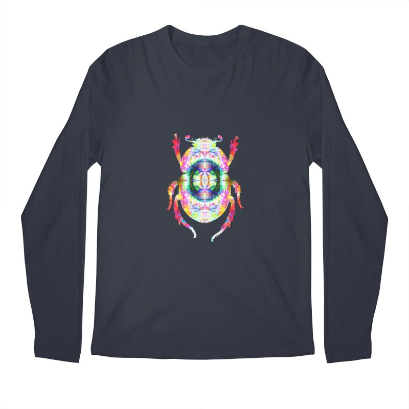 fractal beatle Men's Regular Longsleeve T-Shirt by KristieRose Designs