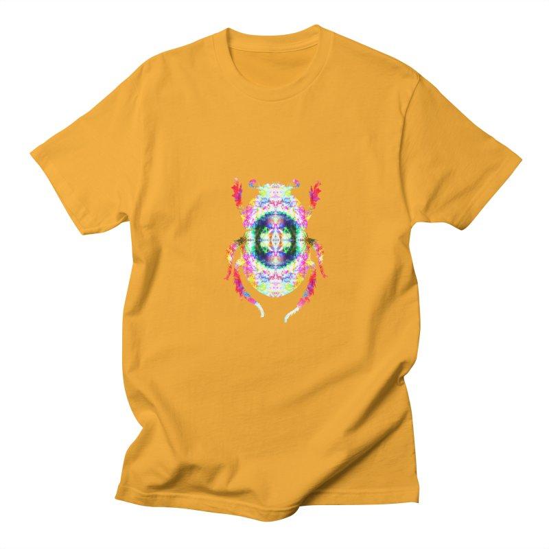 fractal beatle Men's Regular T-Shirt by KristieRose Designs