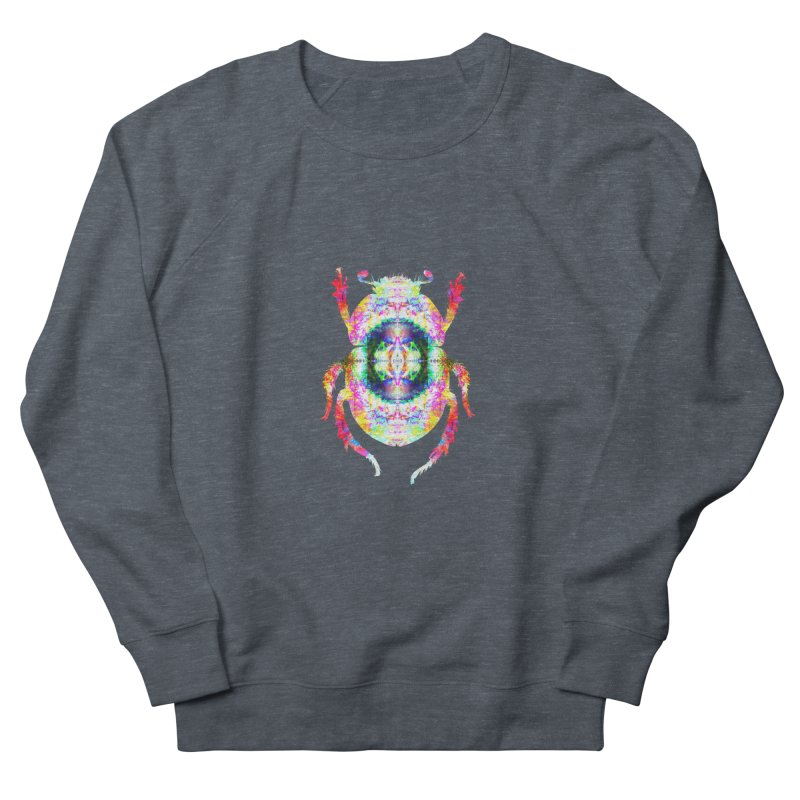 fractal beatle Women's French Terry Sweatshirt by KristieRose Designs