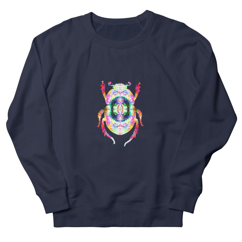 fractal beatle Men's French Terry Sweatshirt by KristieRose Designs