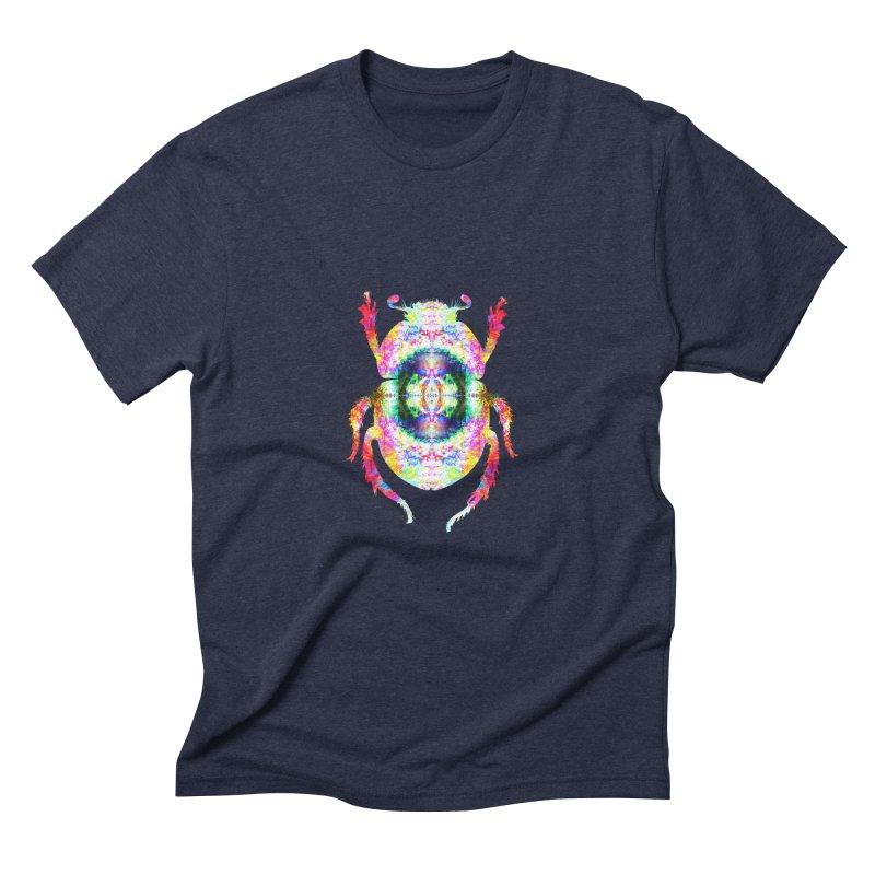 fractal beatle Men's Triblend T-Shirt by KristieRose Designs