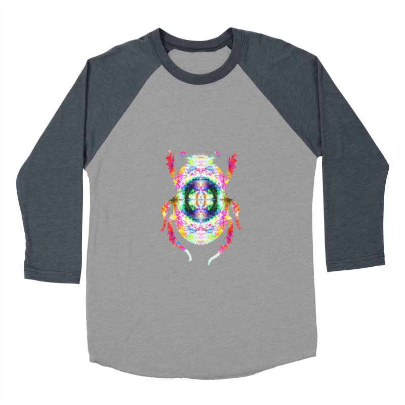 fractal beatle Women's Baseball Triblend Longsleeve T-Shirt by KristieRose Designs