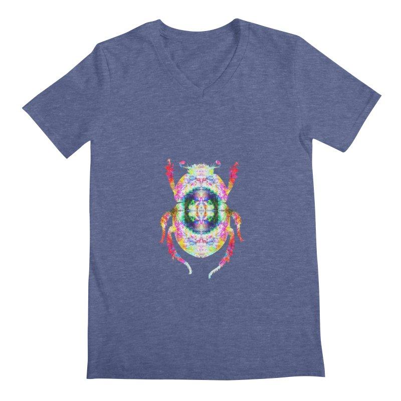 fractal beatle Men's Regular V-Neck by KristieRose Designs