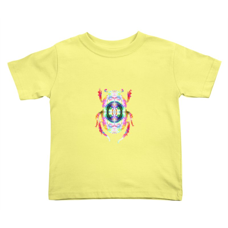 fractal beatle Kids Toddler T-Shirt by KristieRose Designs