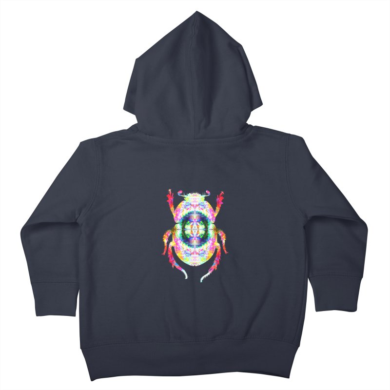 fractal beatle Kids Toddler Zip-Up Hoody by KristieRose Designs