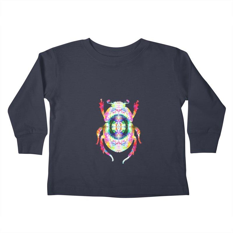 fractal beatle Kids Toddler Longsleeve T-Shirt by KristieRose Designs