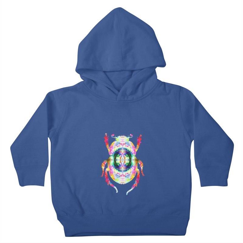fractal beatle Kids Toddler Pullover Hoody by KristieRose Designs