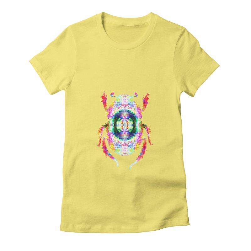 fractal beatle Women's Fitted T-Shirt by KristieRose Designs