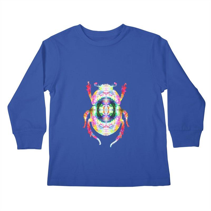 fractal beatle Kids Longsleeve T-Shirt by KristieRose Designs