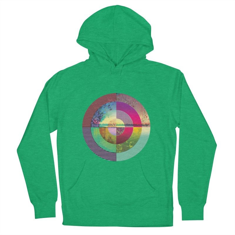 tranquil eye circle art Women's French Terry Pullover Hoody by KristieRose Designs