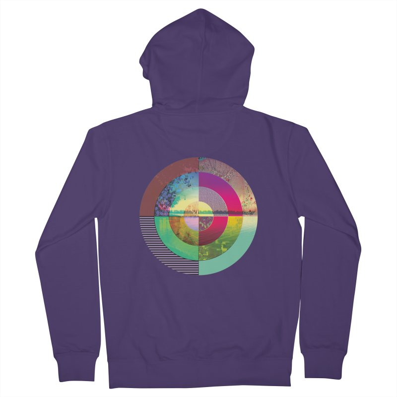 tranquil eye circle art Women's French Terry Zip-Up Hoody by KristieRose Designs