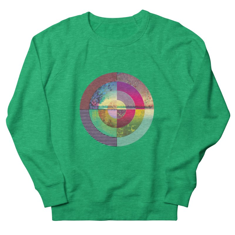 tranquil eye circle art Women's French Terry Sweatshirt by KristieRose Designs