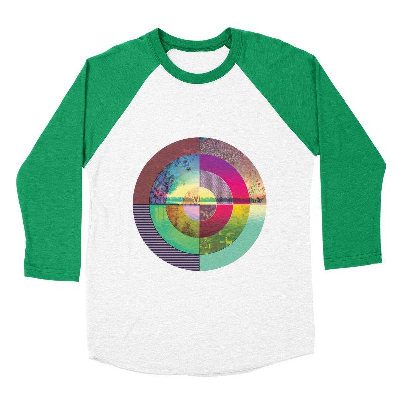 tranquil eye circle art Women's Baseball Triblend Longsleeve T-Shirt by KristieRose Designs