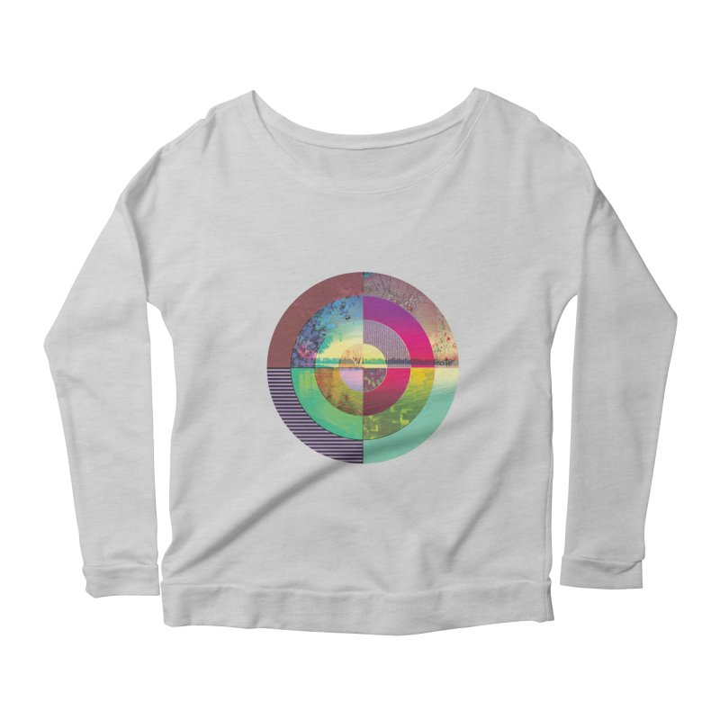 tranquil eye circle art Women's Longsleeve T-Shirt by KristieRose Designs