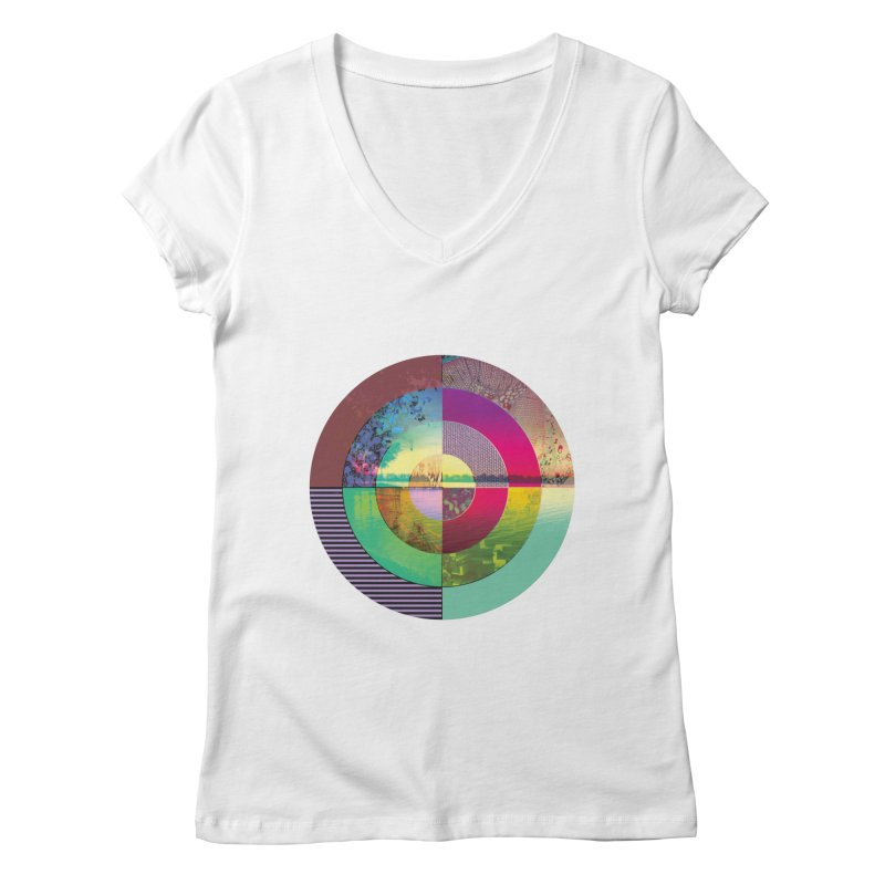 tranquil eye circle art Women's Regular V-Neck by KristieRose Designs