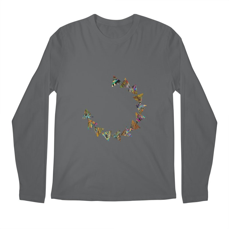 triangle flow Men's Regular Longsleeve T-Shirt by KristieRose Designs