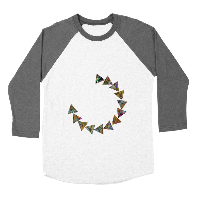 triangle flow Men's Baseball Triblend Longsleeve T-Shirt by KristieRose Designs