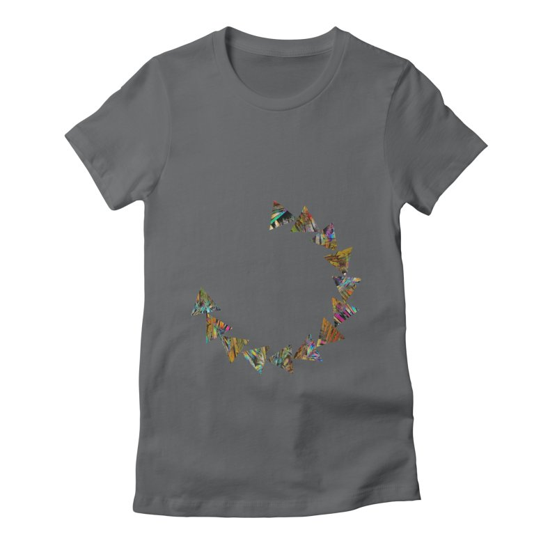 triangle flow Women's Fitted T-Shirt by KristieRose Designs