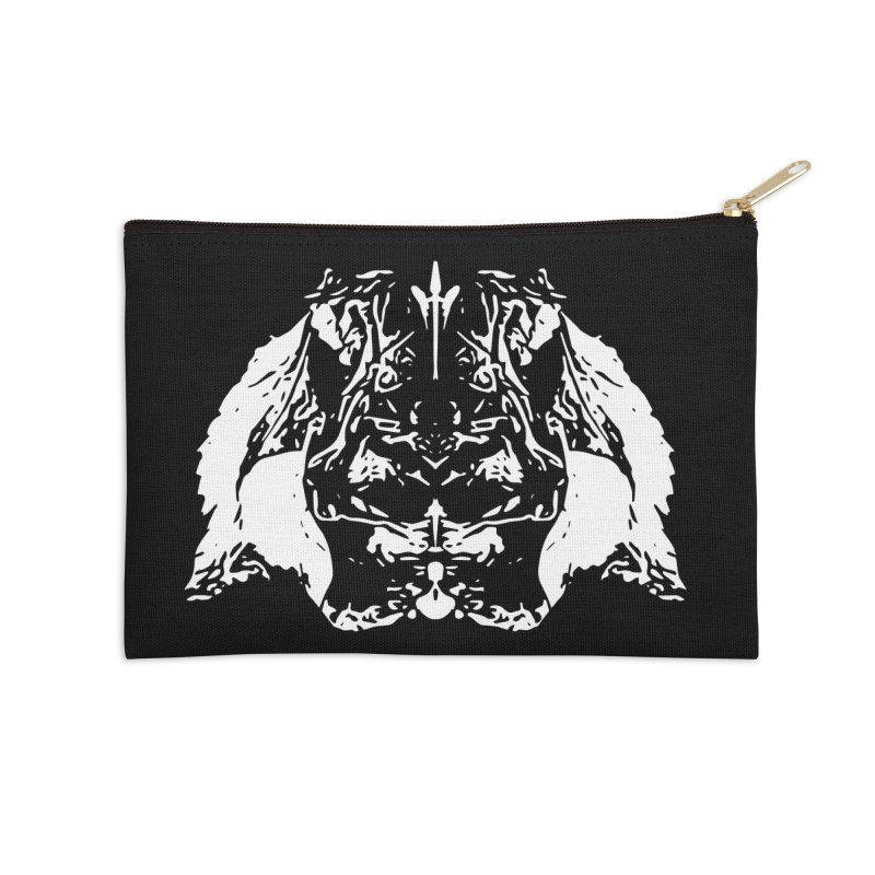 Don't Mess with the Rabbit Accessories Zip Pouch by Kukileaf's Artist Shop