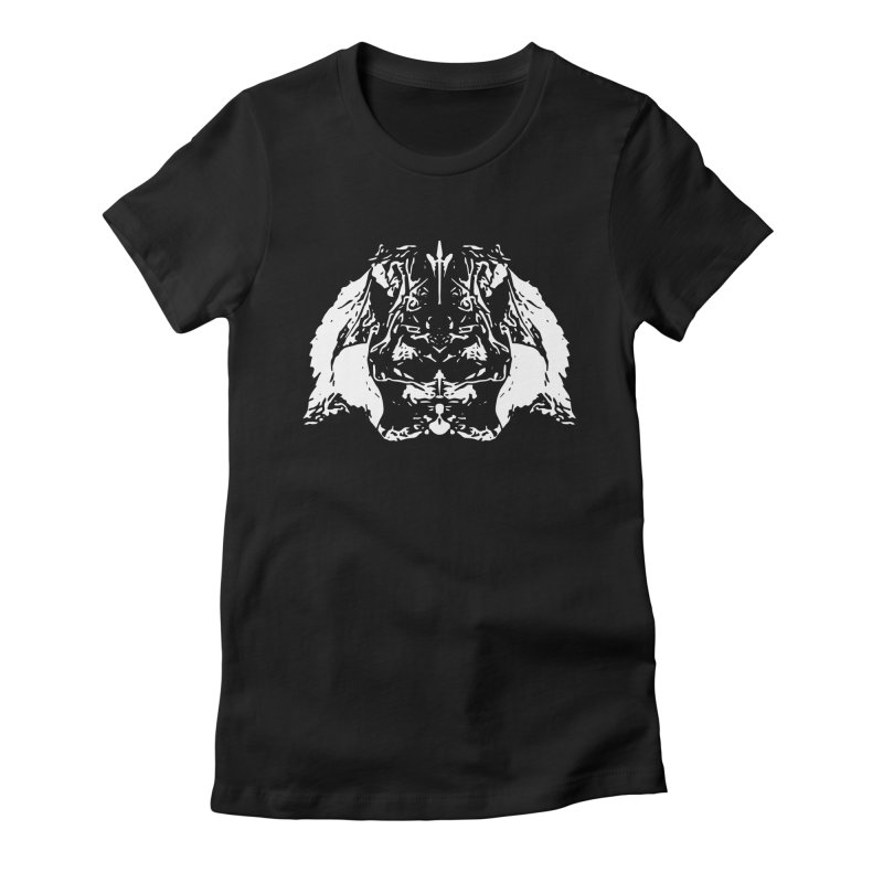 Don't Mess with the Rabbit Women's Fitted T-Shirt by Kukileaf's Artist Shop