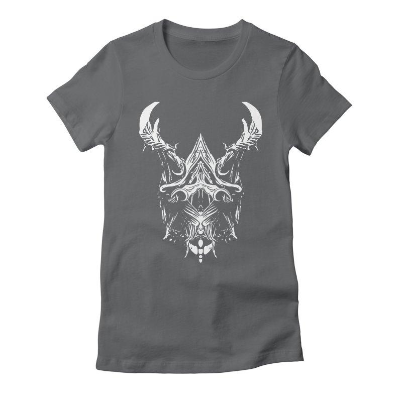 Dark Stag Women's Fitted T-Shirt by Kukileaf's Artist Shop