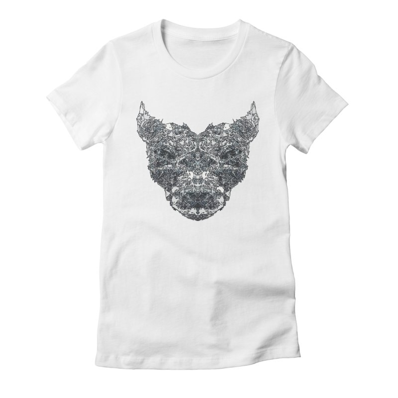 Ice Hound Women's Fitted T-Shirt by Kukileaf's Artist Shop