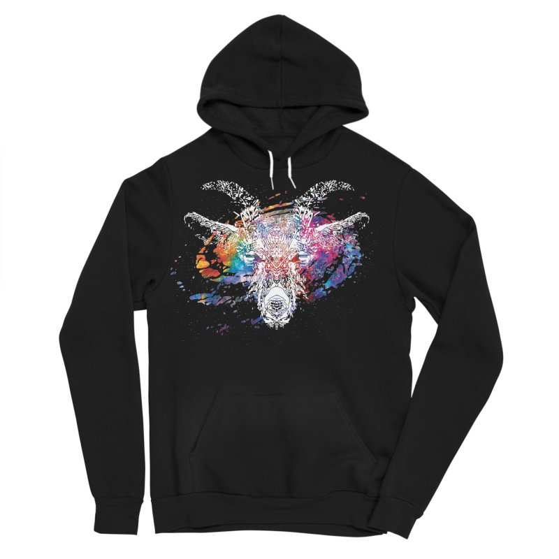space goat spiral galaxy Men's Sponge Fleece Pullover Hoody by Kukileaf's Artist Shop