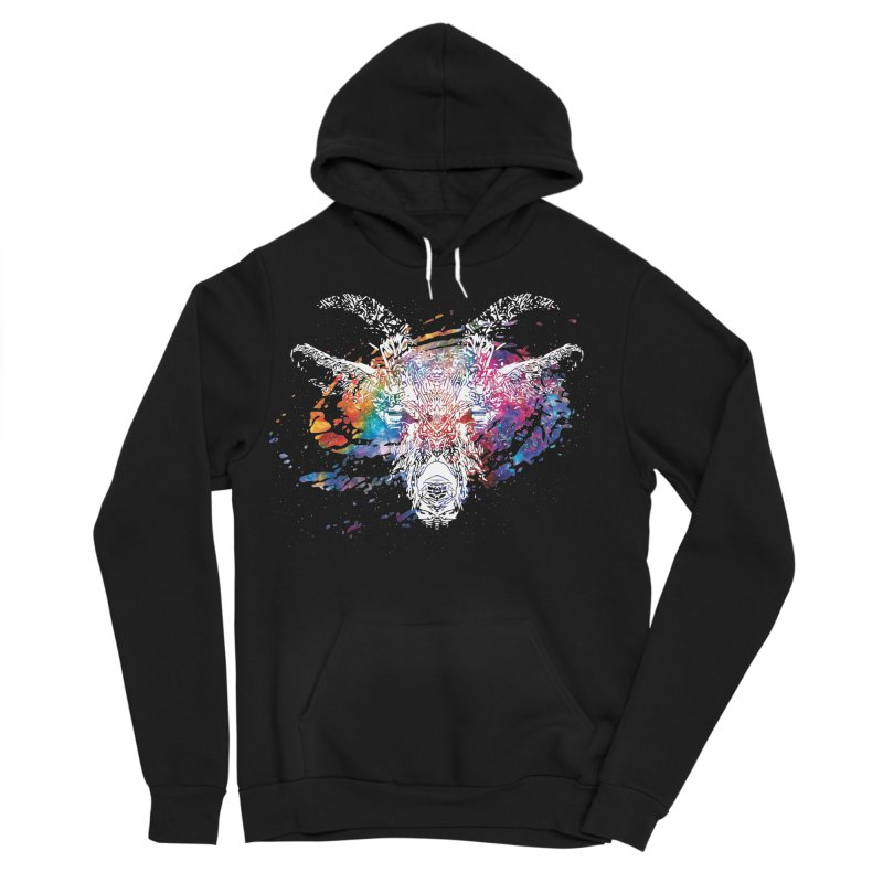 space goat spiral galaxy Women's Sponge Fleece Pullover Hoody by Kukileaf's Artist Shop