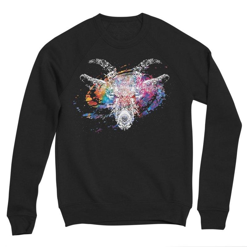 space goat spiral galaxy Men's Sponge Fleece Sweatshirt by Kukileaf's Artist Shop