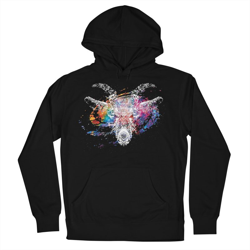 space goat spiral galaxy Women's French Terry Pullover Hoody by Kukileaf's Artist Shop