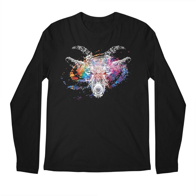 space goat spiral galaxy Men's Regular Longsleeve T-Shirt by Kukileaf's Artist Shop