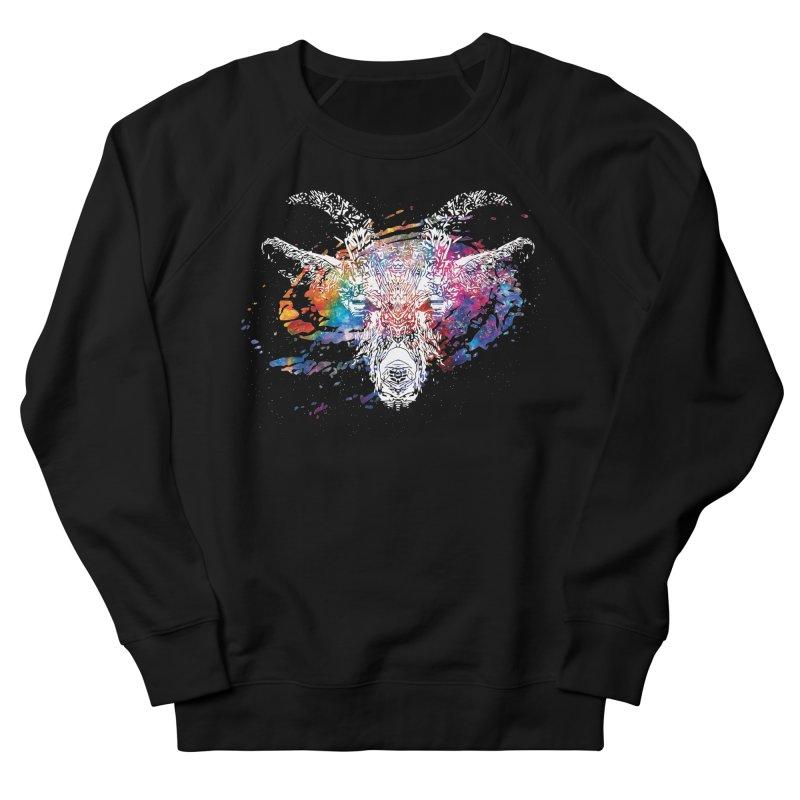 space goat spiral galaxy Men's French Terry Sweatshirt by Kukileaf's Artist Shop