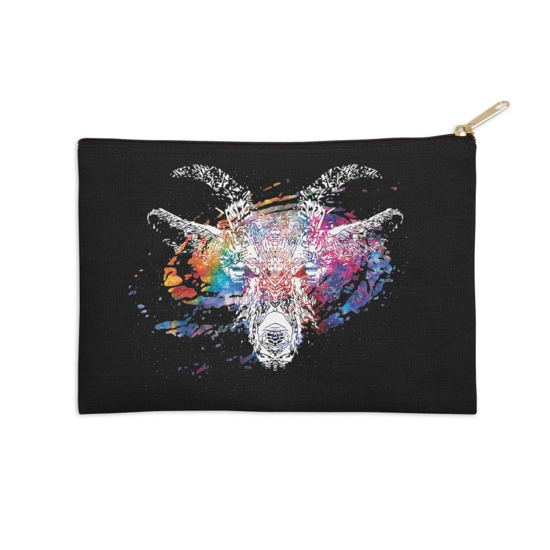 space goat spiral galaxy Accessories Zip Pouch by Kukileaf's Artist Shop